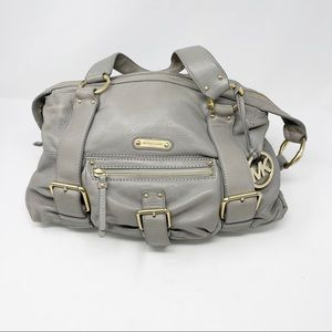 MICHAEL Michael Kors Grey Leather Satchel Bag